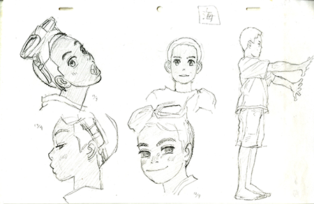 Early rough images for Children of the Sea